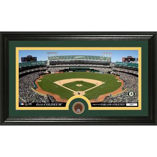 Oakland A's Infield Dirt Coin Panoramic Photo Mint