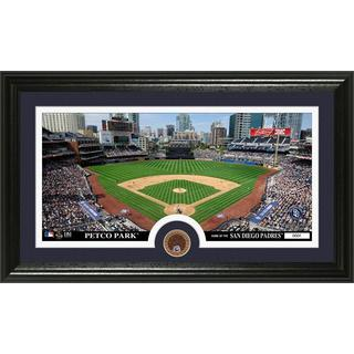San Diego Padres Dirt Coin Panoramic Photo Mint