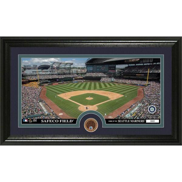 Seattle Mariners Infield Dirt Coin Panoramic Photo Mint
