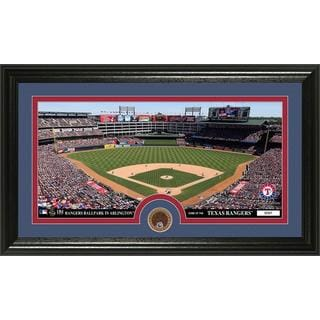 Texas Rangers Infield Dirt Coin Panoramic Photo Mint