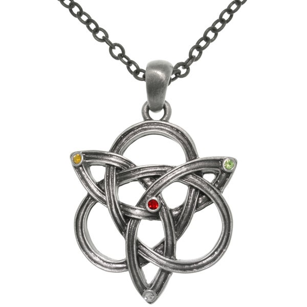 Pewter Celtic Knotted Trinity Chain Necklace 12704392
