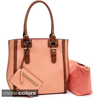 3-in-1 Belted Tote Bag