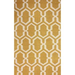 nuLOOM Hand-hooked Trellis Gold Rug (5' x 8')