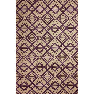 nuLOOM Hand-hooked Indoor/ Outdoor Purple Rug (5' x 8')
