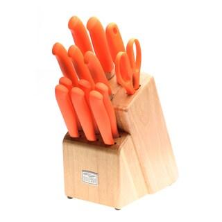 Chicago Cutlery Kinzie Orange 14 Piece Block Knife Set