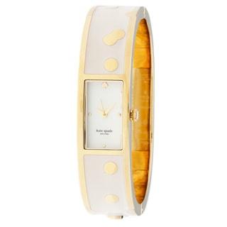kate spade New York Women's 1YRU0046 'Carousel' Spotted Bangle Watch