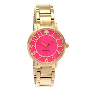 kate spade new york Women's 1YRU0389 'Gramercy' Pink Dial Bracelet Watch