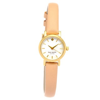 kate spade new york Women's 1YRU0372 Tiny Metro Beige Leather Watch