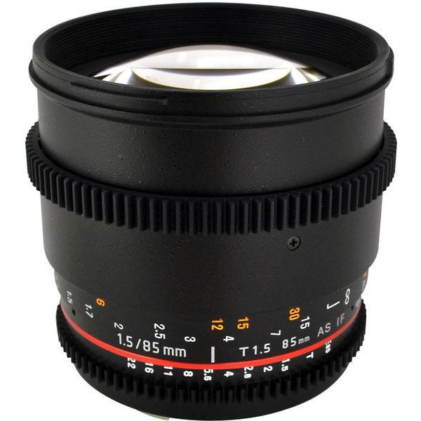 Rokinon 85mm T1.5 Cine Lens for Canon EF Bundle