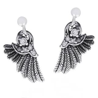 Angelic Wings Cubic Zirconia Array .925 Silver Earrings (Thailand)