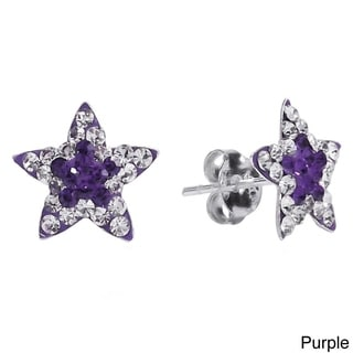 Twinkling Star Cubic Zirconia .925 Silver Stud Earrings (Thailand)