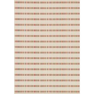 Indoor/ Outdoor Paradise Stripe Beige/ Multi Rug (3'11 x 5'10)