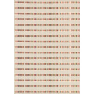 Indoor/ Outdoor Paradise Stripe Beige/ Multi Rug (7'10 x 10'9)