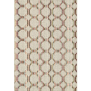 Indoor/ Outdoor Paradise Geometric Beige/ Multi Rug (5'2 x 7'5)