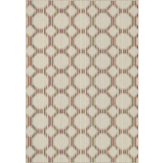 Indoor/ Outdoor Paradise Geometric Beige/ Multi Rug (7'10 x 10'9)