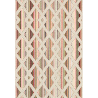 Indoor/ Outdoor Paradise Diamond Beige/ Multi Rug (7'10 x 10'9)