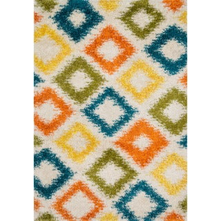 Stella Diamond-multi Shag Rug (5'2 x7'7)