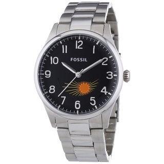 Fossil Men's Agent Moonphase Stainless Steel Watch