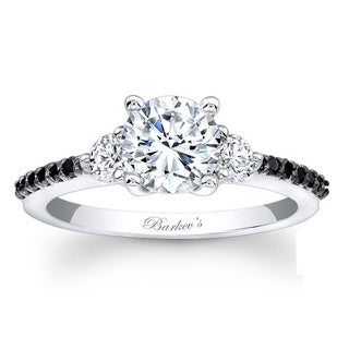 Barkev's Designer 14k White Gold 1 1/5ct TDW Black and White Diamond Ring (F-G, SI1-SI2)
