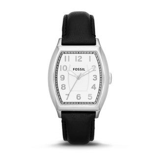Fossil Men's Narrator Black Leather Watch