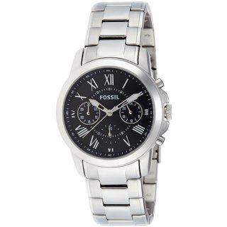 Fossil Men's Grant Analog Quartz Silver Watch