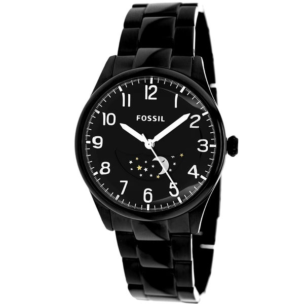 Fossil Men's The Agent Black Stainless Steel Watch