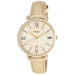 Fossil Women's Jacqueline Three-Hand Leather Watch