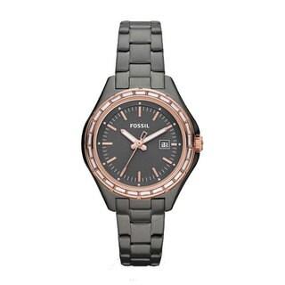 Fossil Women's AM4397 Dylan Mini Stainless Steel Smoke Bracelet Watch