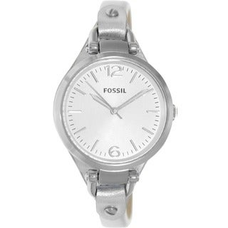 Fossil Women's Georgia Three-Hand Leather Watch
