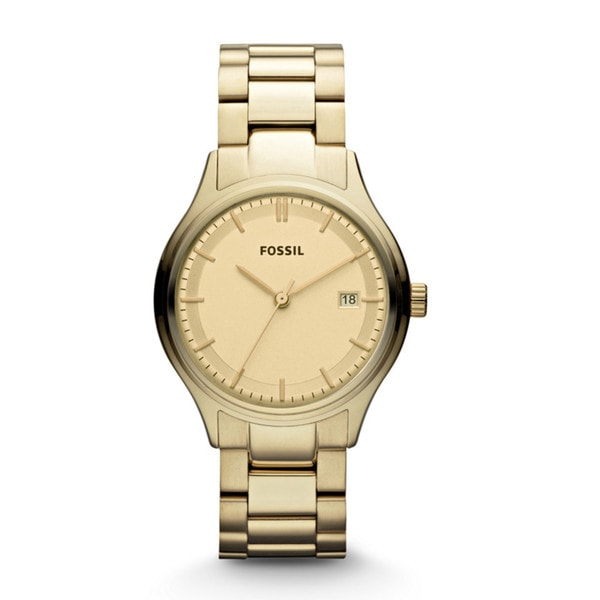 Fossil Women's Archival Gold-Tone Watch