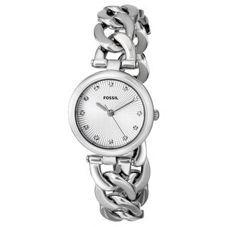 Fossil Women's Olive Quartz Silver Watch