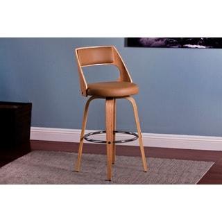 Modern 26-inch Swivel Wood Barstool (Set of 2)