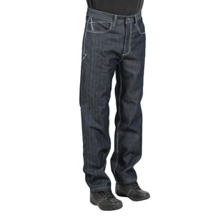 MO7 Men's Dark Indigo Straight Leg Fashion Jeans