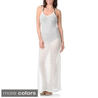 Blue Island Women's Sheer Mesh Maxi Dress