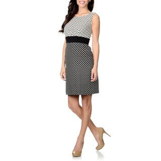 Tahari Arthur S. Levine Women's Polka Dot Sheath Dress