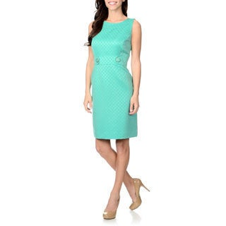 Tahari Arthur S. Levine Women's Novelty Textured Sheath Dress