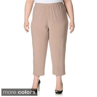 Lennie for Nina Leonard Women's Plus Size Cropped Pull-on Pants