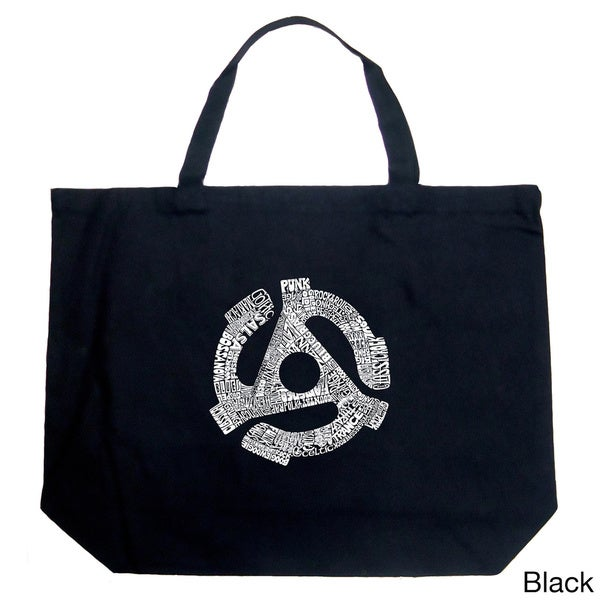 LA Pop Art Record Adapter Shopping Tote Bag