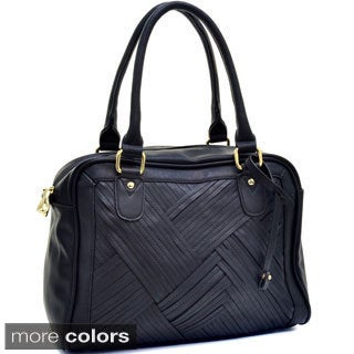 Cross-weave Top Handle Shoulder Bag