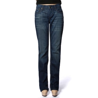 Stitch's Women's Pocket Zip Fly Denim Straight Leg Jeans