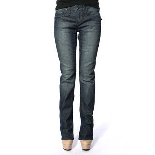 Stitch's Women's Soft Denim Low Waist Straight Leg Jeans