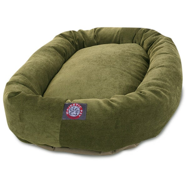 Majestic Pet Villa Collection Micro-velvet Bagel-style Dog Bed (As Is Item)
