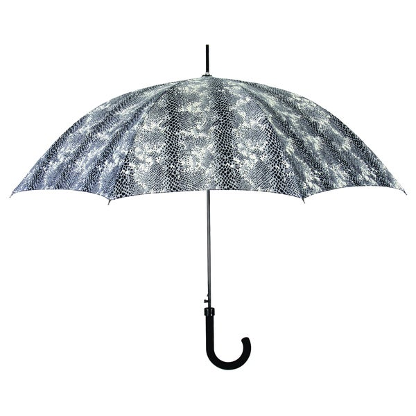 Leighton Black and White Texture Pattern Umbrella