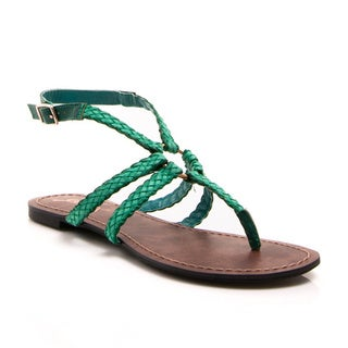 Gomax Berdine 89 Women's Braided Keyhole Flat Sandals