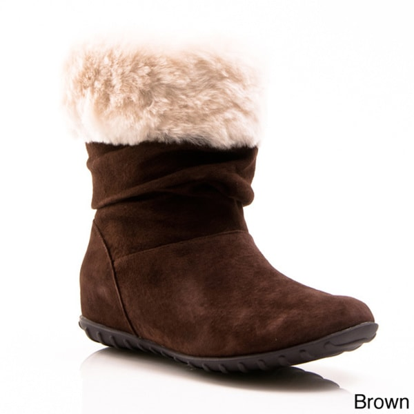 Nvy Alpine Women's Cuffed Shearling Soft Ankle Boots