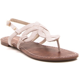 Gomax Berdine-80 Women's Woven Slide Thong Sandals