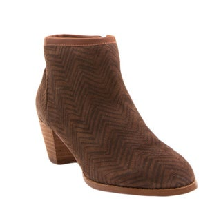 Nvy Babs Geometric Print Zipped Mid-Heel Pointed-Toe Bootie