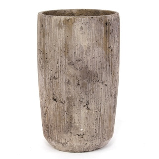Sage & Co Tall Tan Striated Modern Concrete Planter