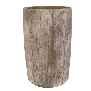 Tall Tan Modern Concrete Planter