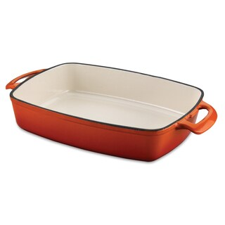 Casterra 13.5-inch Enameled Cast Iron Roasting Pan